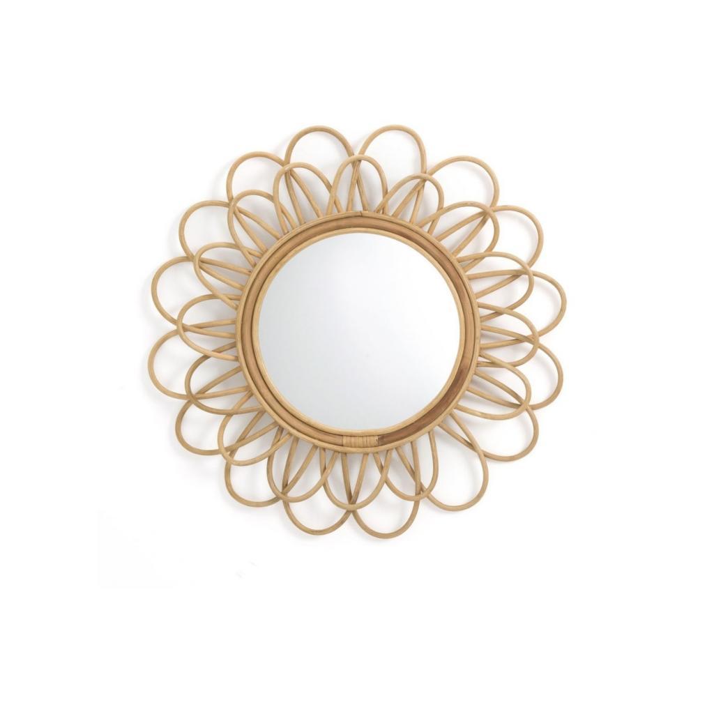 Miroir en rotin Nogu pour La Redoute, 54,99 €.