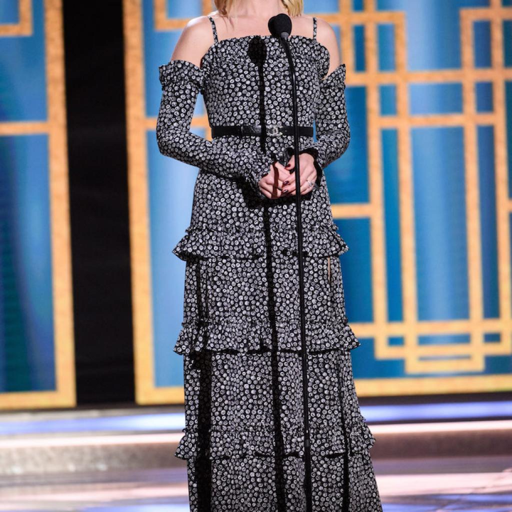 Margot Robbie portait un total look Chanel.<em>@Credit photo : Belga</em>