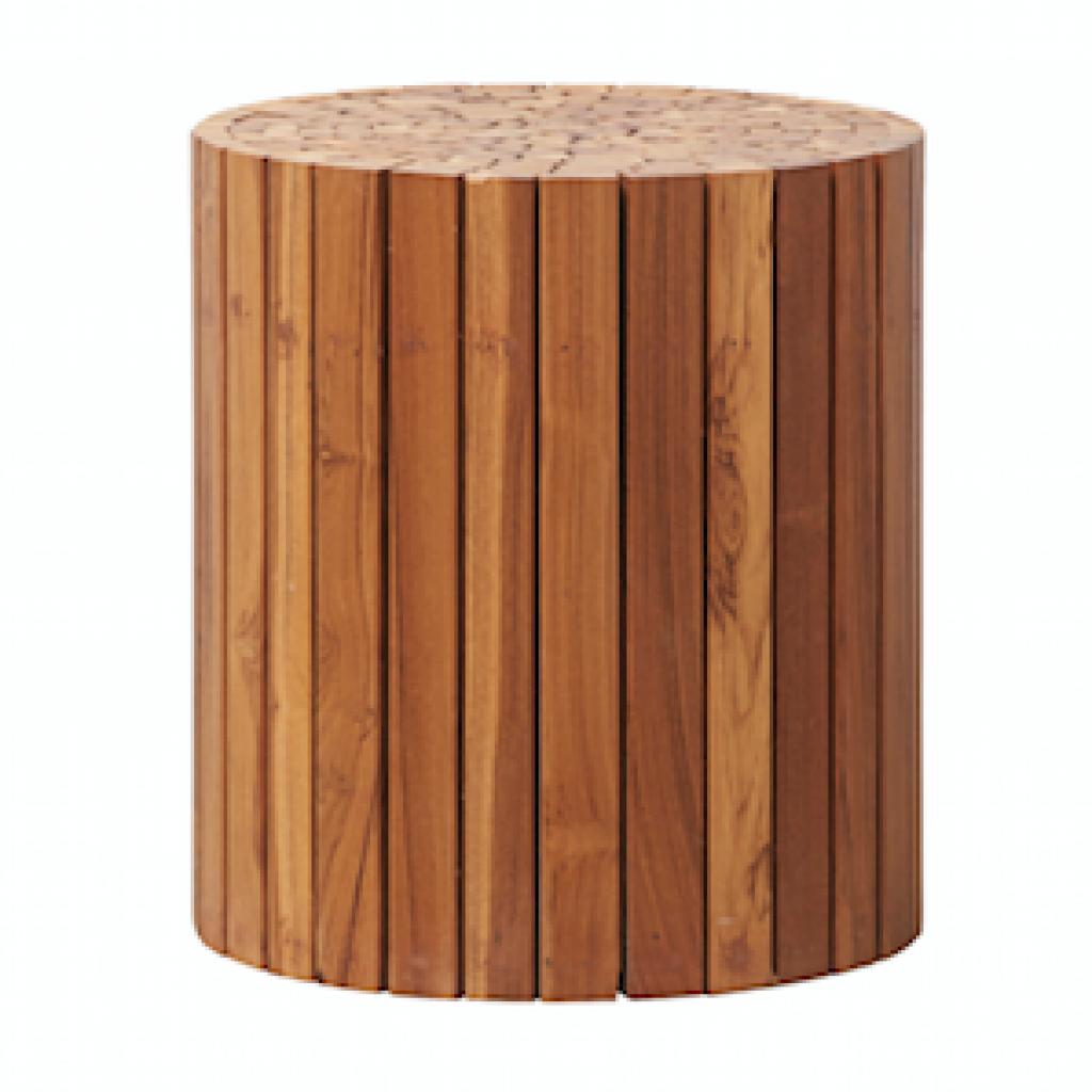 "En teck et acacia recyclé. Modèle Teaky ,Ø38 x H 40cm, 295€. <a href=""http://www.housedoctor.com"">www.housedoctor.com</a>"