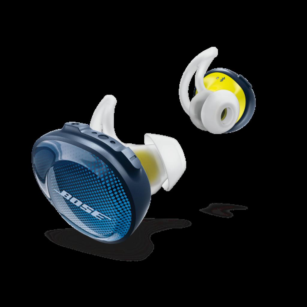Des earbuds pour qui'l puisse écouter de la musique et rester en contact avec vous même sur la route.<br /><em>Ecouteurs SoundSport Fee, Bose, 179, 95 €.</em>