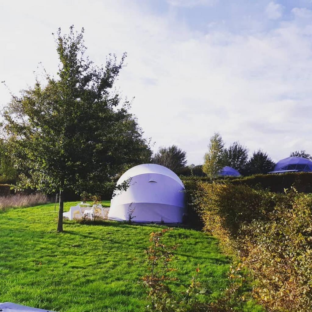 """Dans des tentes ultra-luxueuses à Westhouter dans le Westhoek. Comptez environ 90 € par nuit pour une tente 2 personnes. <em><strong>Plus d'infos <a href=""""https://ecochique.be/?page_id=2"""" target=""""_blank"""">ici.</a></strong></em><a href=""""https://ecochique.be/?page_id=2"""" target=""""_blank""""></a>"""