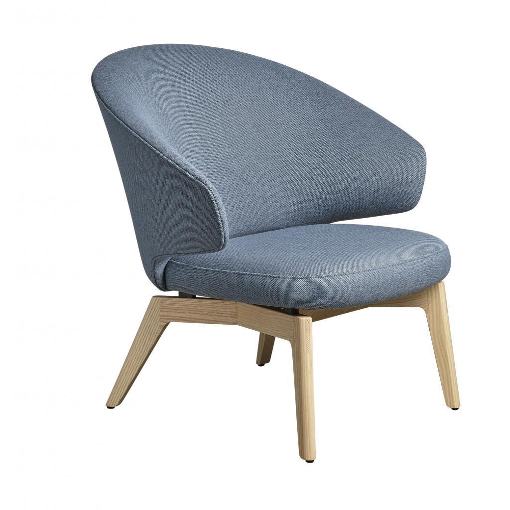 Fauteuil lounge bleu jeans, Fritz Hansen, prix sur demande.