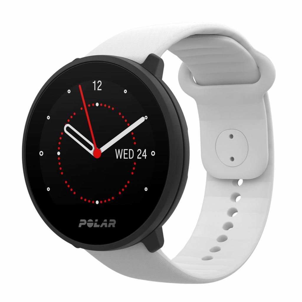 Une montre hybride qui recueille des infos révélatrices (et rassurantes!) sur son état de santé: nombre de pas, rythme cardiaque...<br /><em>Montre hybride Polar Unite, 129,99 €.</em>