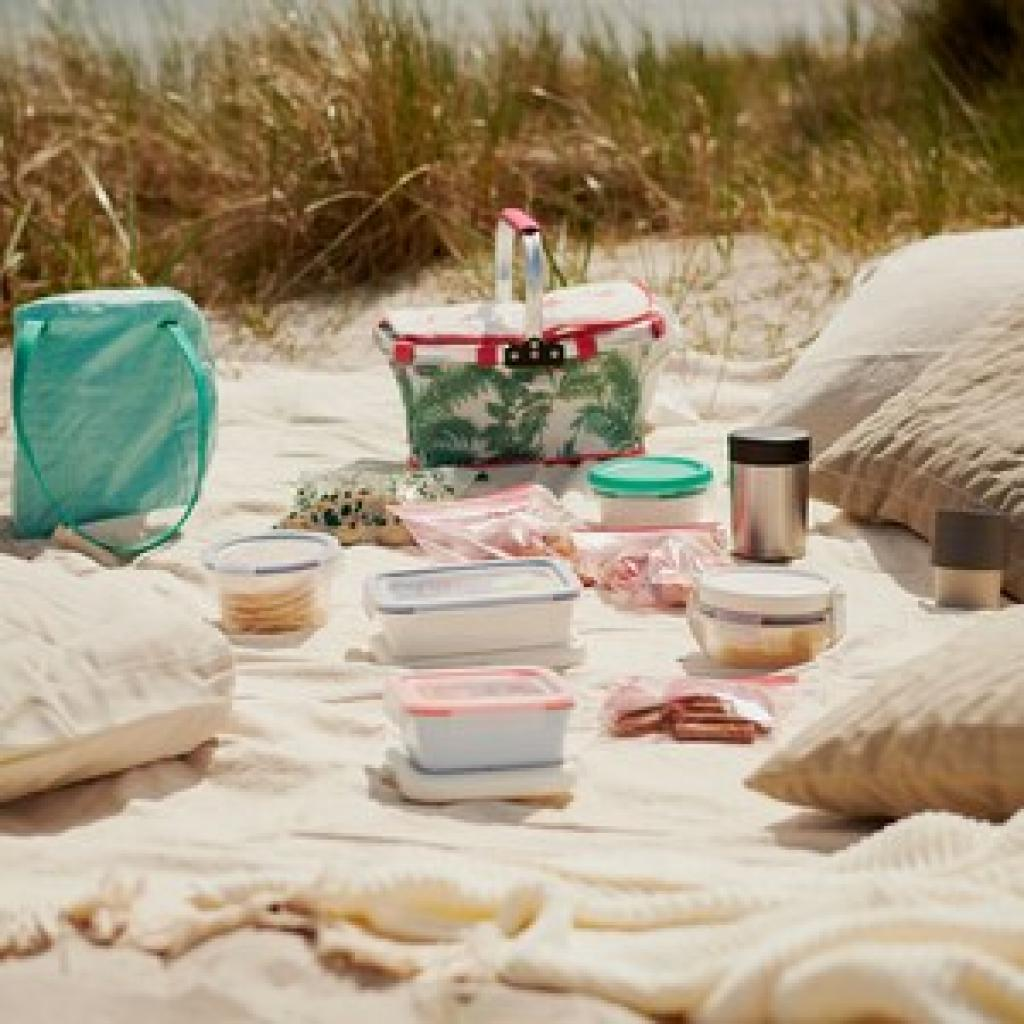 <em> The Ikea folding picnic basket; € 6.99; accessible <a href =