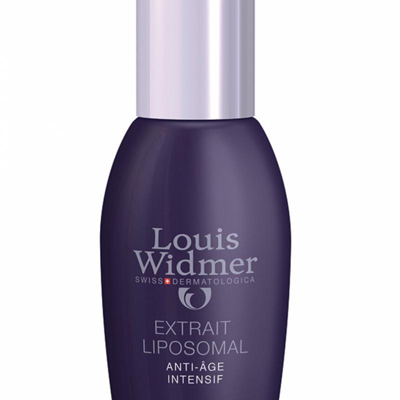 Extrait Liposomal Louis Widmer: un anti-âge intensif véhiculé intégralement au cœur de la peau par les liposomes. 35,90€ les 30ml.