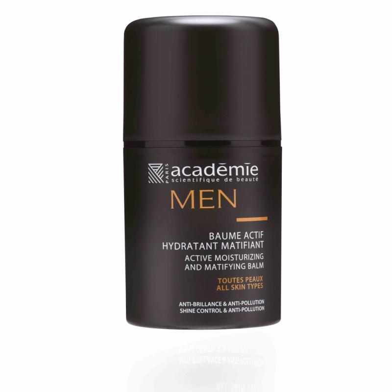 On aime la formule du Baume Actif Hydratant Matifiant d'Académie Men qui protège la peau et l'hydrate sans effet de brillance. Un véritable must have! 39,60 €