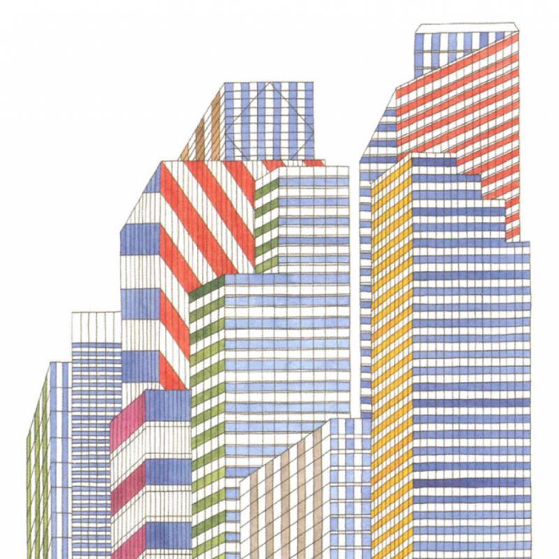 Extrait du livre In the City, paru en 2013. Pendant urbain du titre In the Wilds, on y retrouve des dessins réalisés à Londres, Oslo, Budapest, Istanbul…
