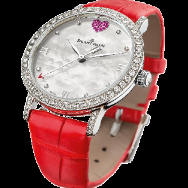 Edition limitée à 99 exemplaires,19 rubis, bracelet en alligator rouge, Blancpain, 14.095€