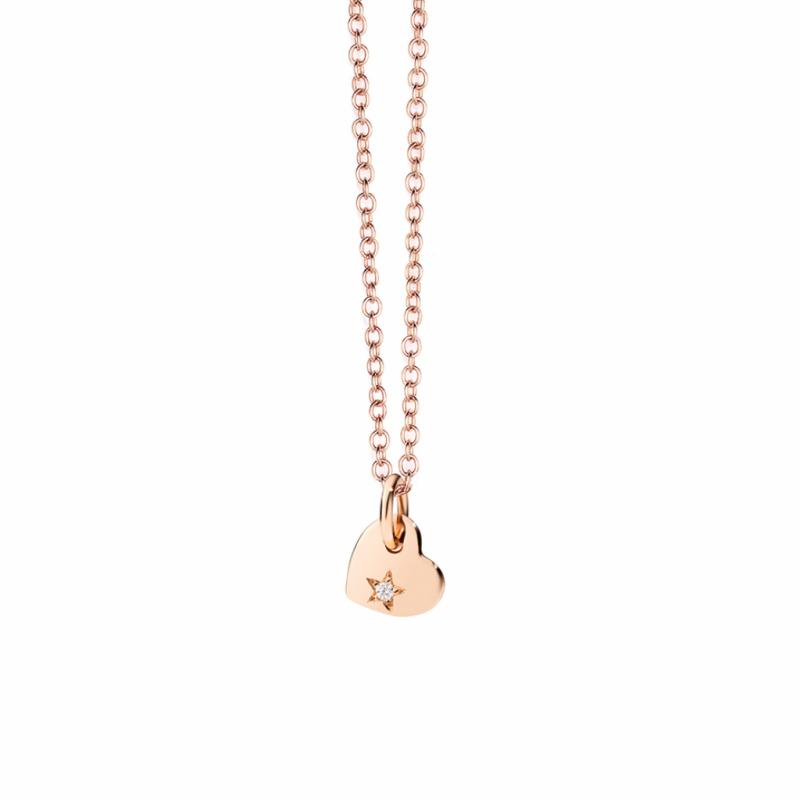 Pendentif or rose et diamant, Dodo, 125€