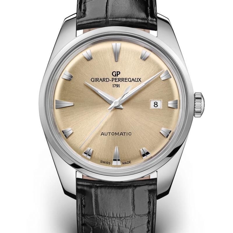"""La montre<strong>""""1957"""",</strong> inspirée du fameux """"<strong>Gyromatic</strong>"""" des années60 – Boîtier en acier de 40mm."""