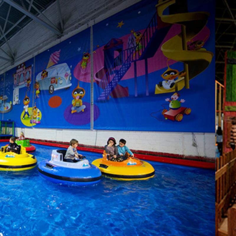 Un parc de 4.000 m2, le plus grand de la région, destiné aux enfants entre 18 mois et 12 ans proposant de nombreuses activités : jeux sensationnels (jusqu'à 8 mètres de haut), escalade, course de bolides, labyrinthes,…