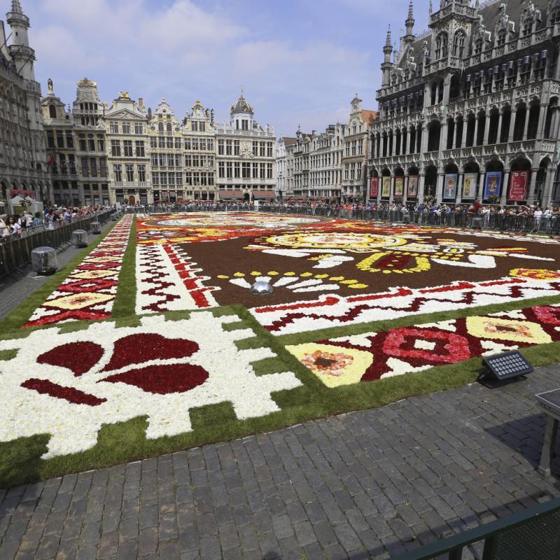 Organisé depuis 1971, le Tapis de Fleurs attire à chaque édition des dizaines de milliers de visiteurs vers la Grand-Place.