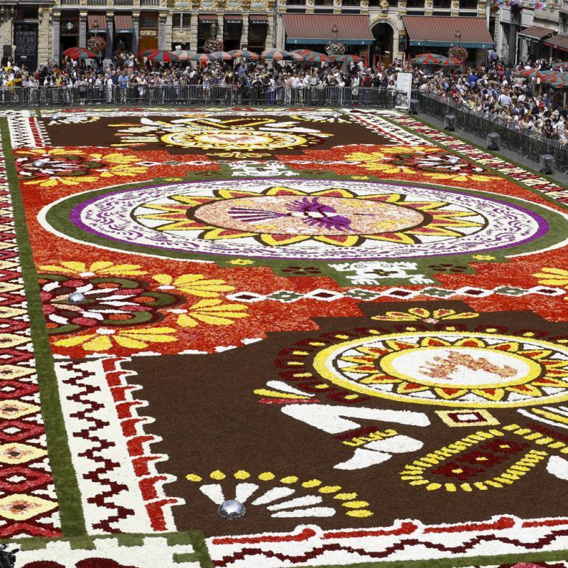 Le tapis de fleurs sera visible du 16 au 19 août sur la Grand-Place de Bruxelles.
