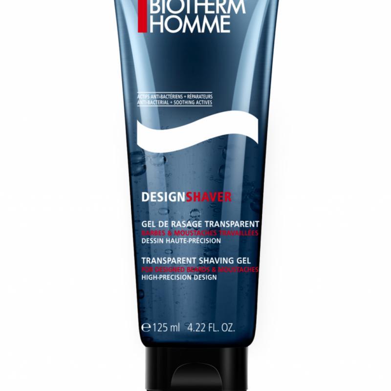 Transparent pour suivre votre rasage au millimètre près, bleu pâle pour voir où vous l'avez appliqué, Design Shaver Gel de Rasage Transparent de Biotherm permet de mettre en forme barbe, moustache ou bouc avec une précision d'orfèvre. 19 €