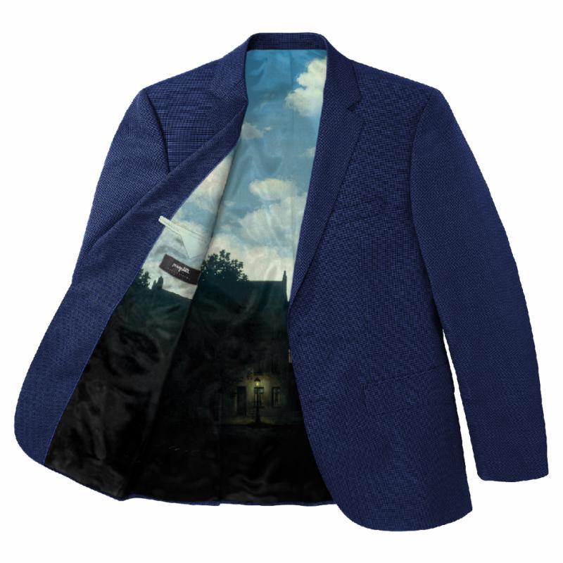 Veste de costume Magritte, Cafe Costume, costume àpd 590€, 150€ supplémentaire pour la doublure.