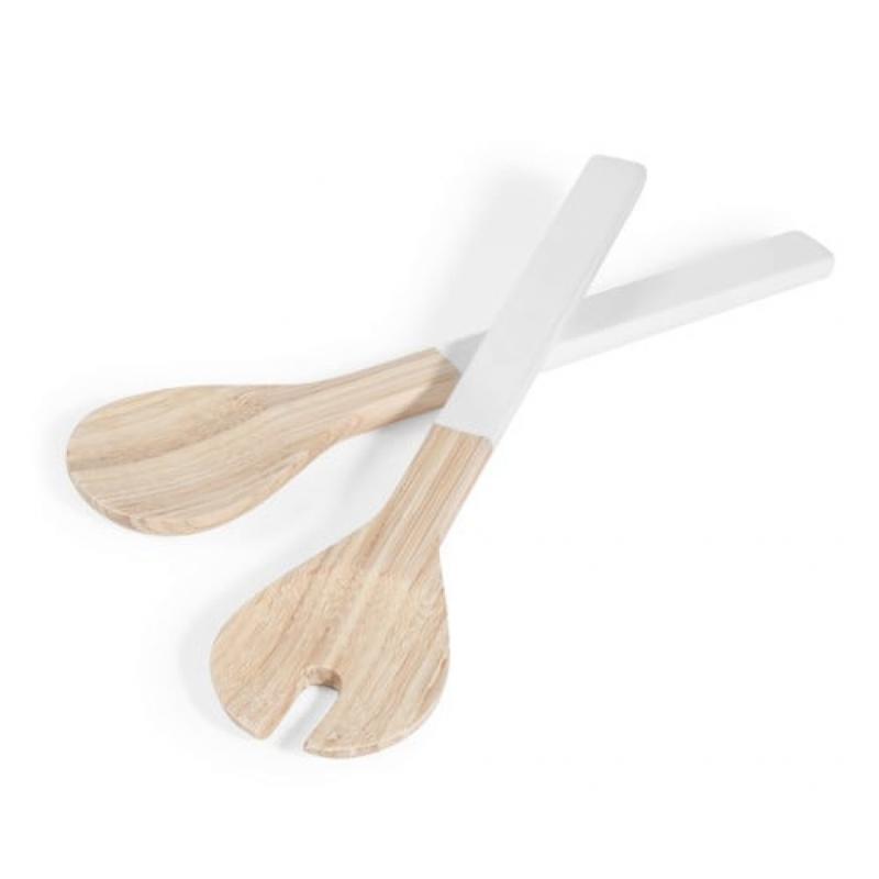 """Couverts à salade en bambou Pure, 9,99 € chez Maisons du Monde, <a href=""""http://www.maisonsdumonde.com"""">www.maisonsdumonde.com</a>"""