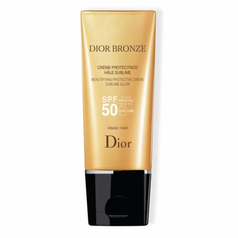 """Le soin sublimateur, mais haute protection : Crème protectrice hâle sublime, Dior Bronze SPF50, Dior, 37,43 € sur <a href=""""http://www.dior.com"""">www.dior.com</a>"""