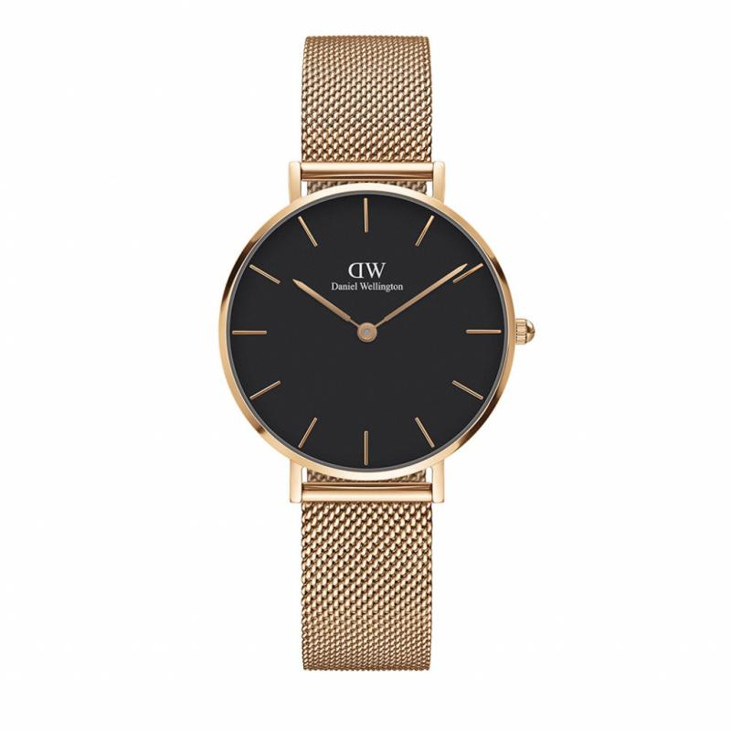Montre Daniel Wellington Classic Petite Melrose – mouvement quartz – Diamètre 32 mm – Bracelet interchangeable.