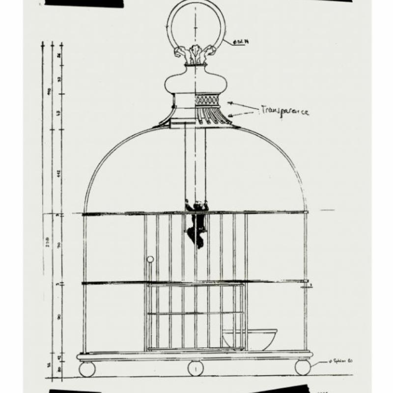 Croquis préparatoire pour la campagne de pub du parfum N°5 de Chanel.