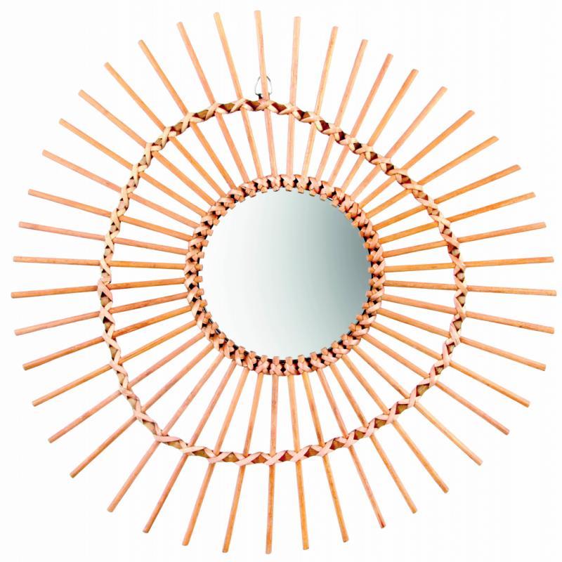 Miroir en bambou, 51€. Home Autour du Monde. T. 02.503.55.92.