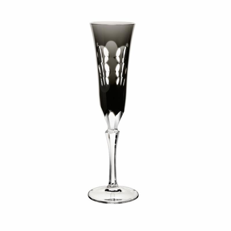 Flute en cristal noir et blanc Kawali, Christofle, 165€