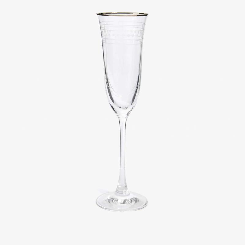 Flute en verre à bord argenté, Zara Home, 9.99€