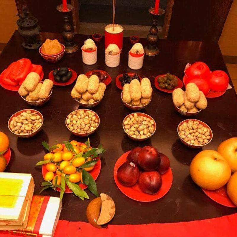 Beitou. Au programme, offrandes et plats traditionnels.