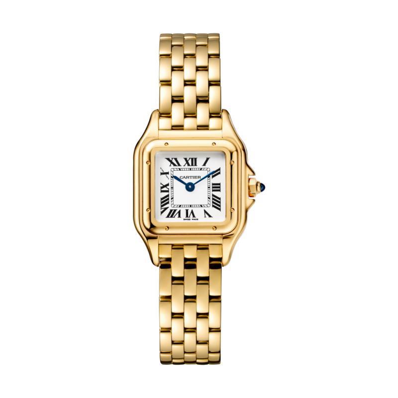 """Dans les allées du SIHH (Salon International de la Haute Horlogerie de Genève), on ne parlait que d'elle! Tel un Phénix qui renaît de ses cendres, la montre Panthère de Cartier, un modèle féminin créé en 1983 et arrêté en 2004, refait le buzz aujourd'hui dans une version quasi identique à l'originale. Le petit modèle en or jaune, totalement dans la mouvance Golden Eighties, est juste parfait! <a href=""""http://www.cartier.fr"""">www.cartier.fr</a>"""