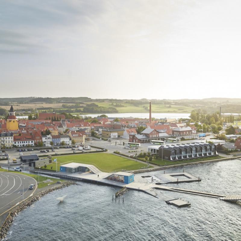 Le bureau bruxellois JDS Architects l'a emporté dans la catégorie « Urban Development », avec son projet de nouvelle station balnéaire au Danemark (Faaborg Harbour Bath).