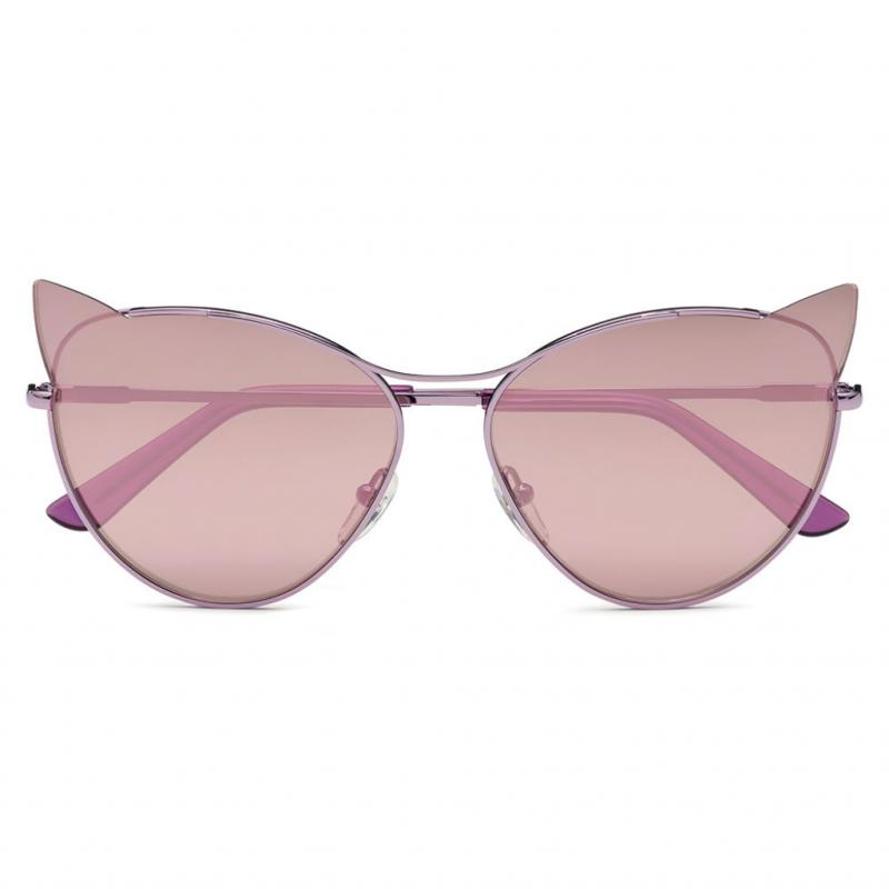 Les solaires miaou. Lunettes miroir rose, collection Choupette, Karl Lagerfeld Eyewear, 195 €.