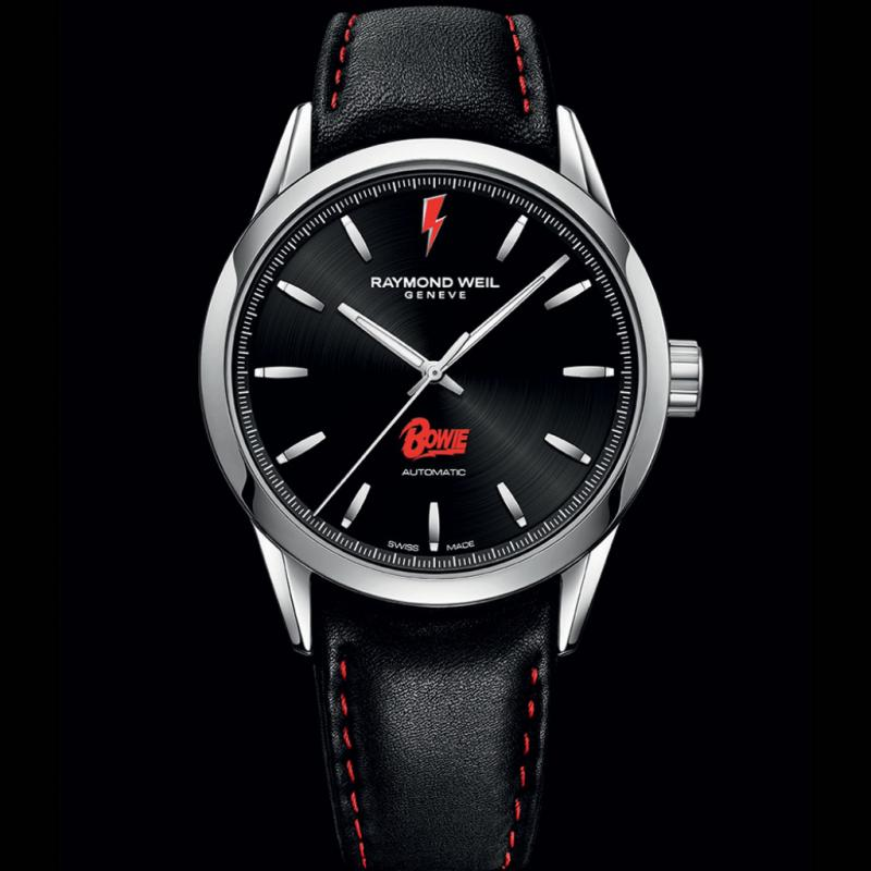 Montre Raymond Weil David Bowie – freelancer – mouvement automatique – diamètre 42 mm – réserve de marche 38 h.