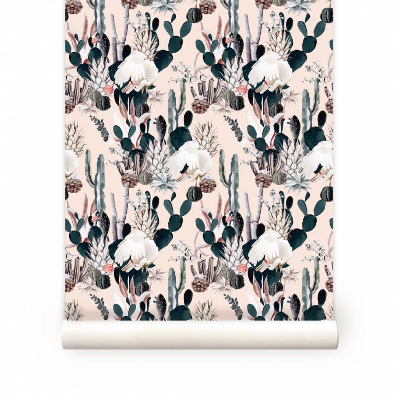 """Tropical, papier peint incisé, 90€/53 x 270cm. Maison Baluchon, <a href=""""http://www.maisonbaluchon.fr"""">www.maisonbaluchon.fr</a>"""