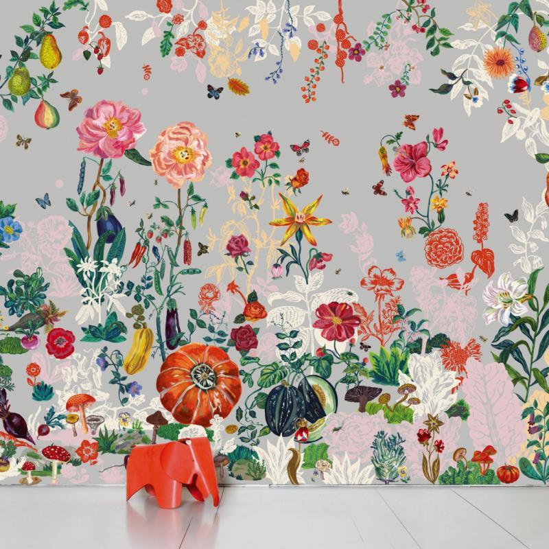"""Jardin, papier peint panoramique intissé [372 x 300cm], 480€. Domestic, <a href=""""http://www.domestic.fr"""">www.domestic.fr</a>"""