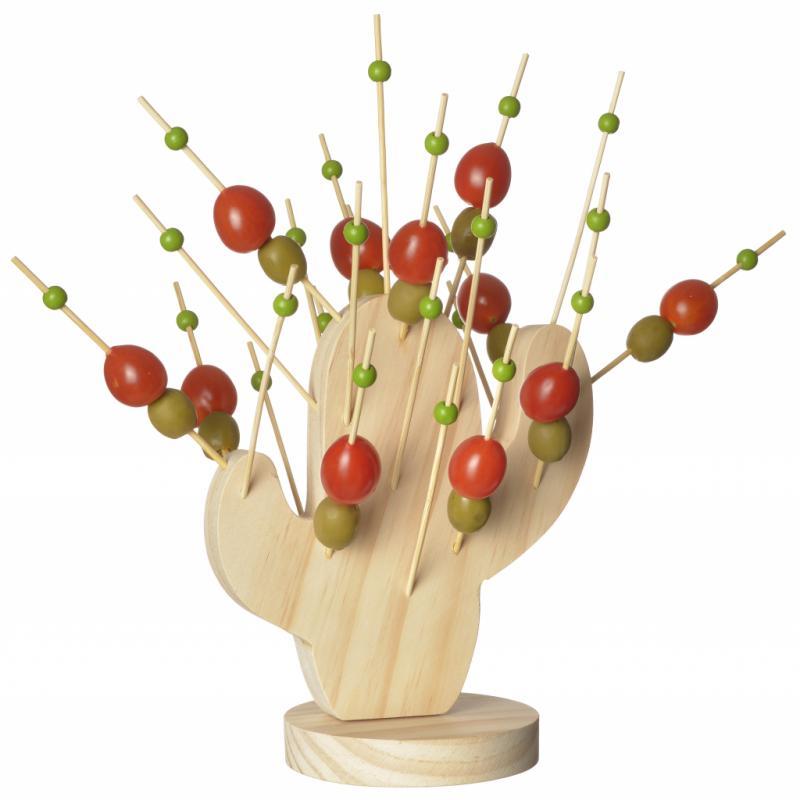 """Cactus pics à coktails en bois, Ambiance & Styles, 14,95€, <a href=""""http://www.ambianceetstyles.com"""">www.ambianceetstyles.com</a>"""