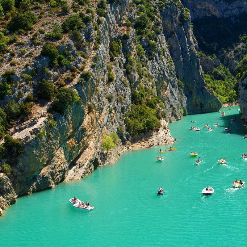 Les gorges du Verdon: un site qui reste d'une beauté toujours fascinante.©Reporters.