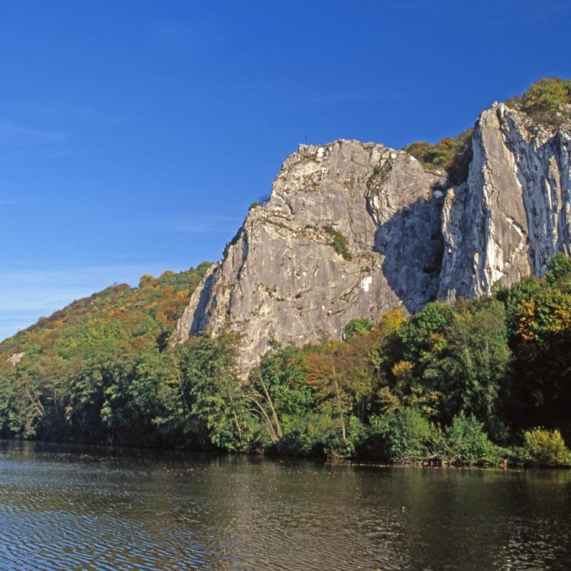 Les rochers de Freyr: près de Dinant, la falaise la plus importante et réputée en Belgique. Très technique, des parois pas très raides, de petites prises.©Reporters.