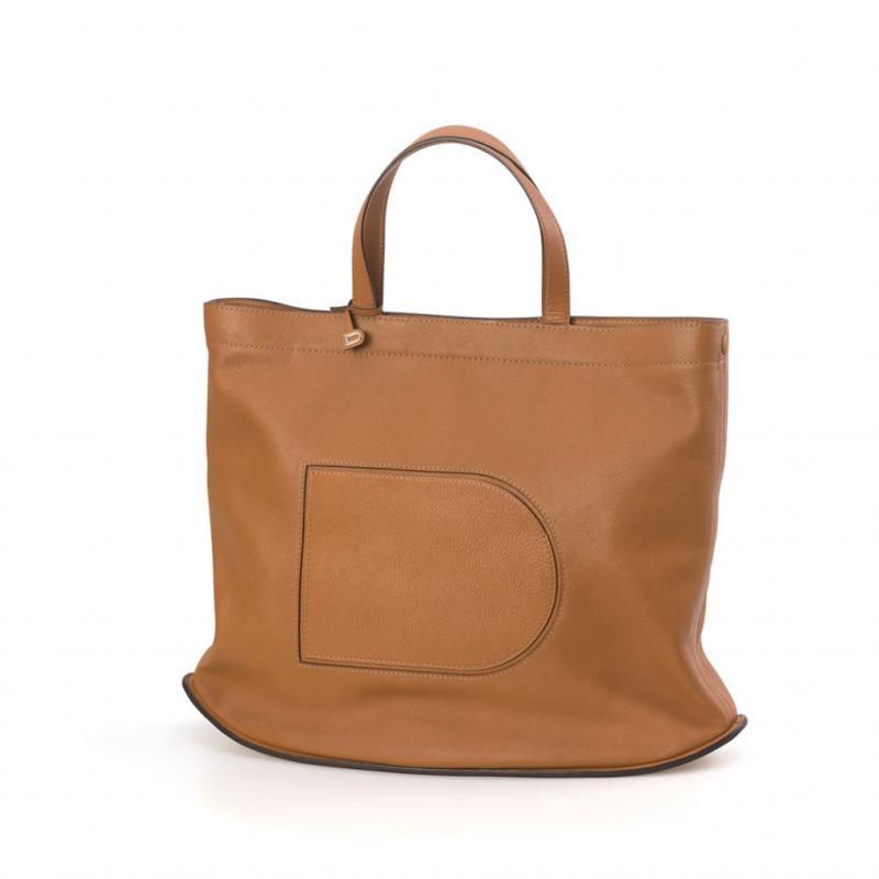 Le sac à PC, version grand luxe. Cabas Pin, Allure, végétal, Delvaux, 1900€.