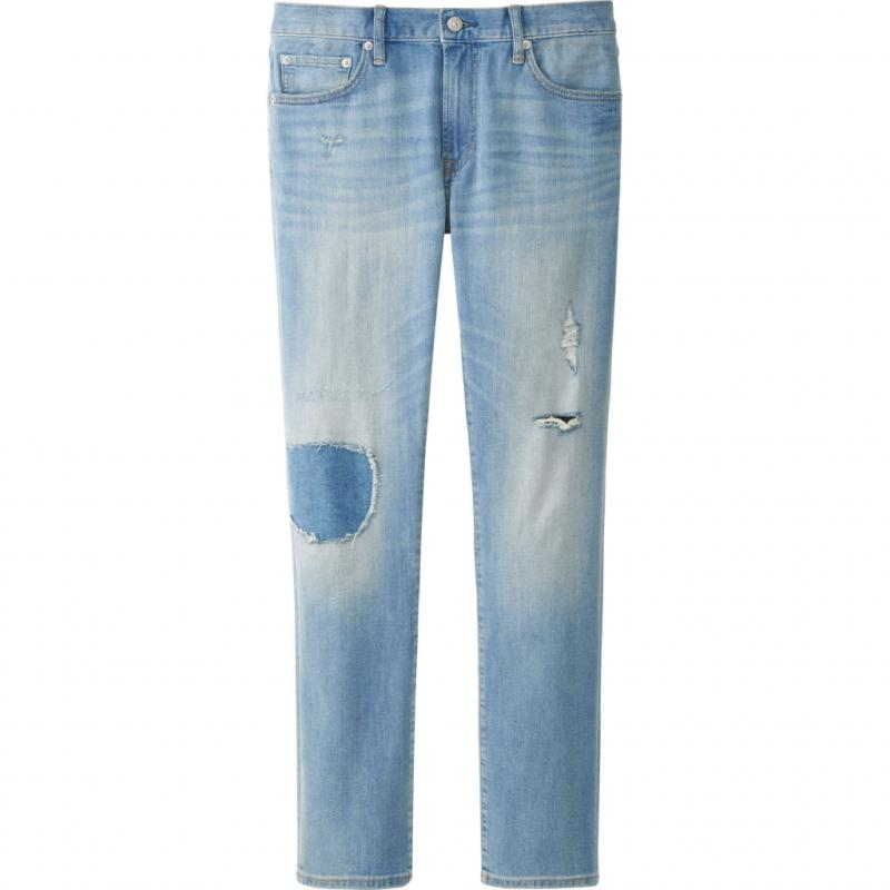 Jeans baggy clair, Uniqlo, 39,90 €.