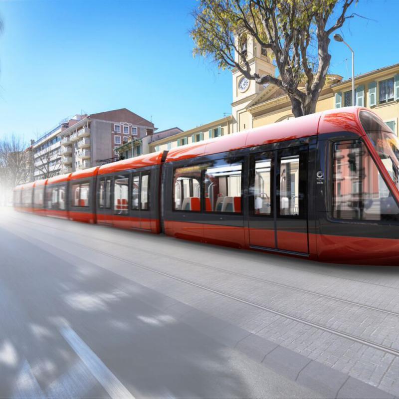 Ora-ïto a imaginé avec Alstom la rame qui équipera la nouvelle ligne de tramway de Nice. Cette nouvelle génération de tramways Alstom Citadis X 05 a été dessinée de manière organique et rationnelle. Le capot, à l'élégance limpide, trace la voie d'un jet ocre contemporain imaginé pour se glisser dans la ville historique.