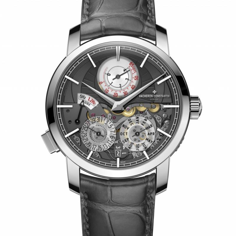 Il a fallu quatre ans à Vacheron Constantin pour développer sa Traditionnelle Twin Beat quantième perpétuel, une montre dotée d'une double fréquence contrôlée par l'utilisateur et affichant une extension exceptionnelle de la réserve de marche (au moins 65 jours) en mode Veille.