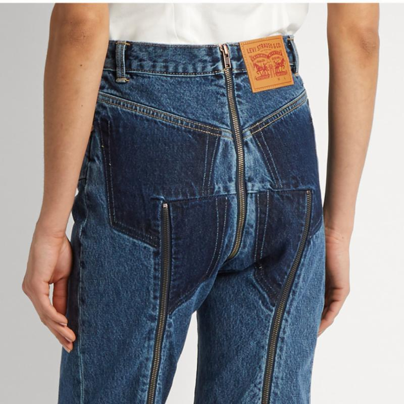 Ce jean qui se dézippe à l'arrière à 1450 euros chez Levi's. Oui mais… non.